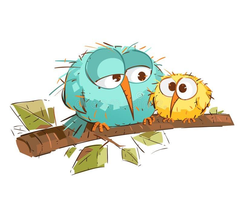 Chubby Cute Birds illustration de vecteur