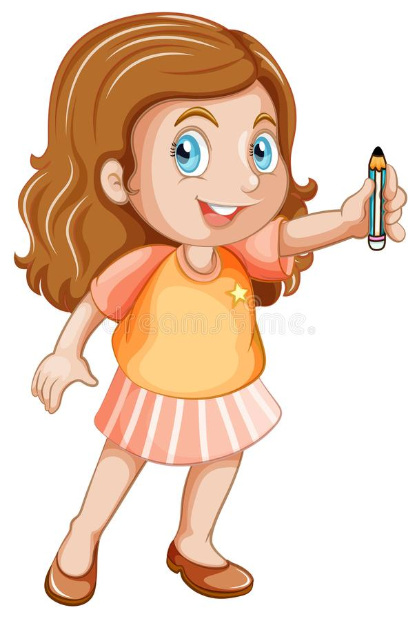 A chubby girl character. Illustration vector illustration