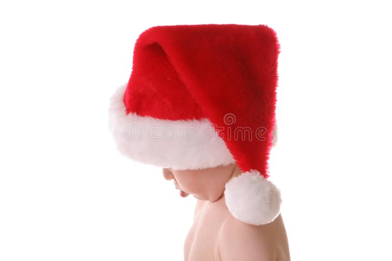 Chubby santa kid stock photo
