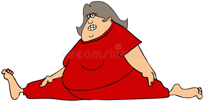 Download Chubby Woman Doing The Splits Royalty Free Stock Images - Image: 33165339