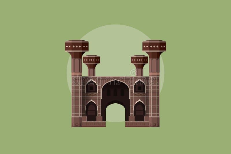 Chuburji - Historical Landmark of Pakistan. Chuburji situated on roundabout of Multan road in Lahore Historical Landmark of Pakistan vector illustration