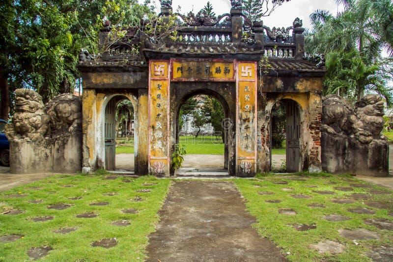 Chuc Thanh Pagoda Gate arkivfoton