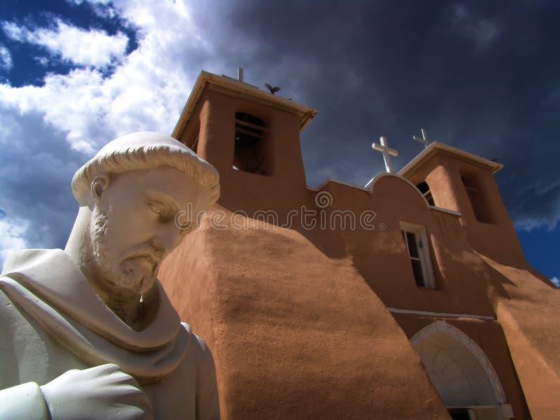 chuch μπροστινό άγαλμα στοκ εικόνες