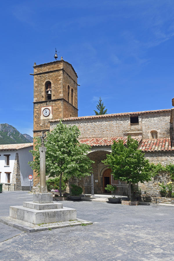 Chuch of Campo in Huesca province, Aragon,Spain. View of the Chuch of Campo in Huesca province, Aragon,Spain stock image