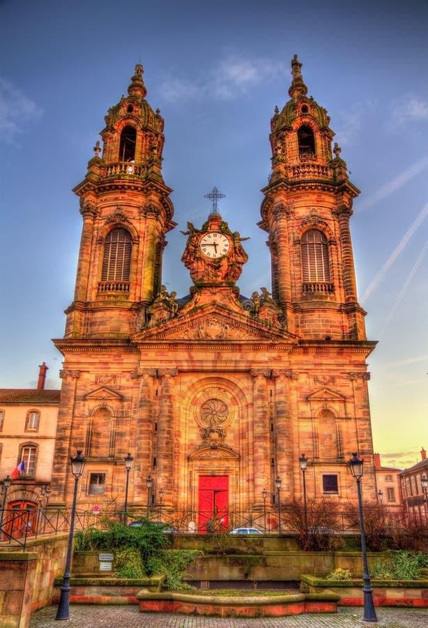 Chuch di Jacques del san di Luneville - la Francia fotografie stock libere da diritti
