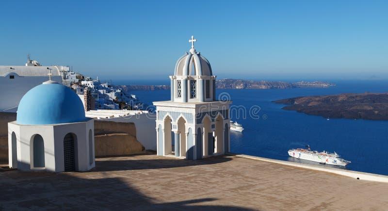 Chuch in Fira. Santorini. Greece. stock photo