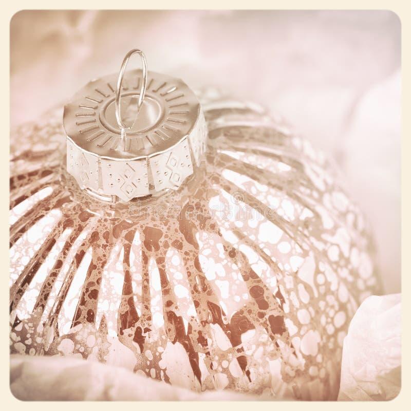 Chuchería de cristal antigua del árbol de navidad imagen de archivo