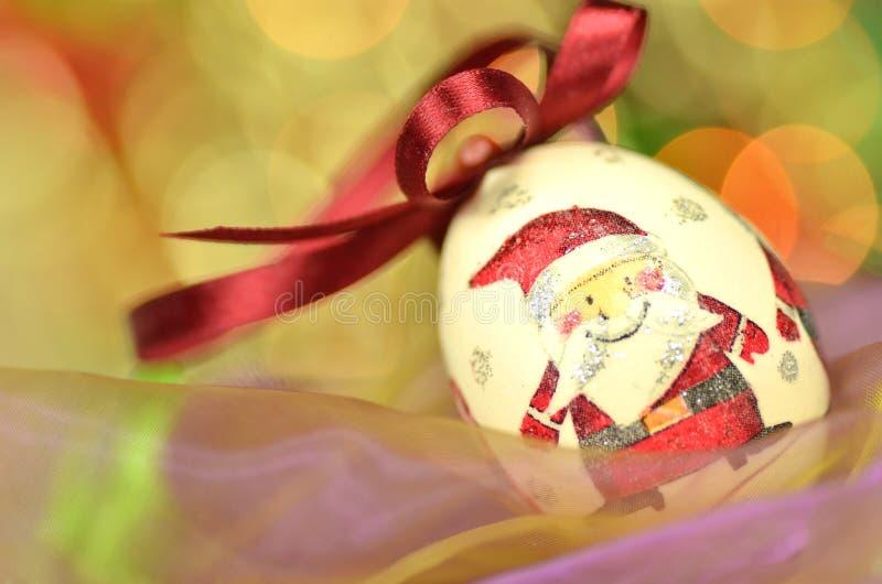 Chuchería de la Navidad hecha por técnica del decoupage foto de archivo