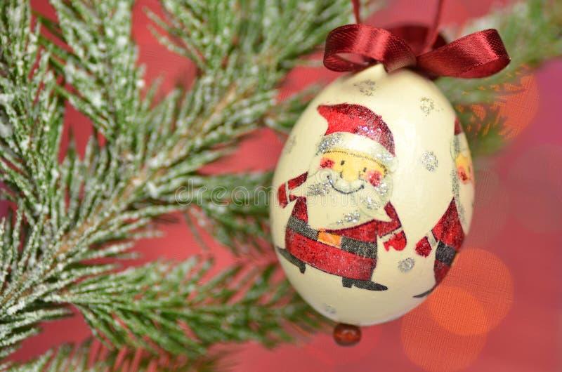 Chuchería de la Navidad hecha por técnica del decoupage fotos de archivo