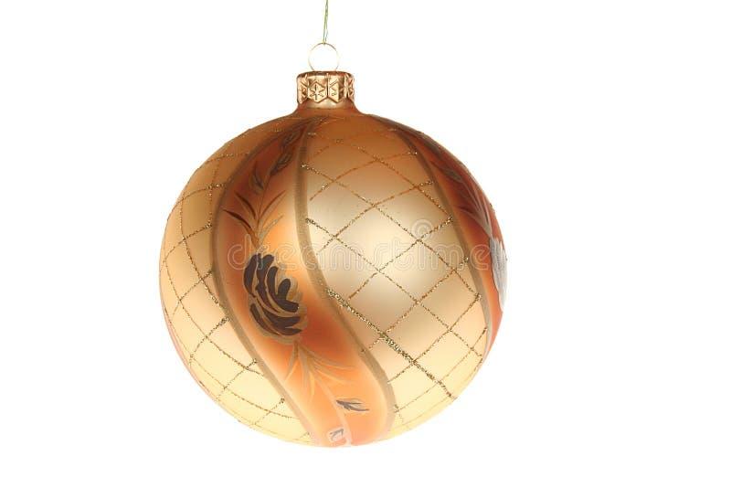 Chuchería de oro de la Navidad imagen de archivo