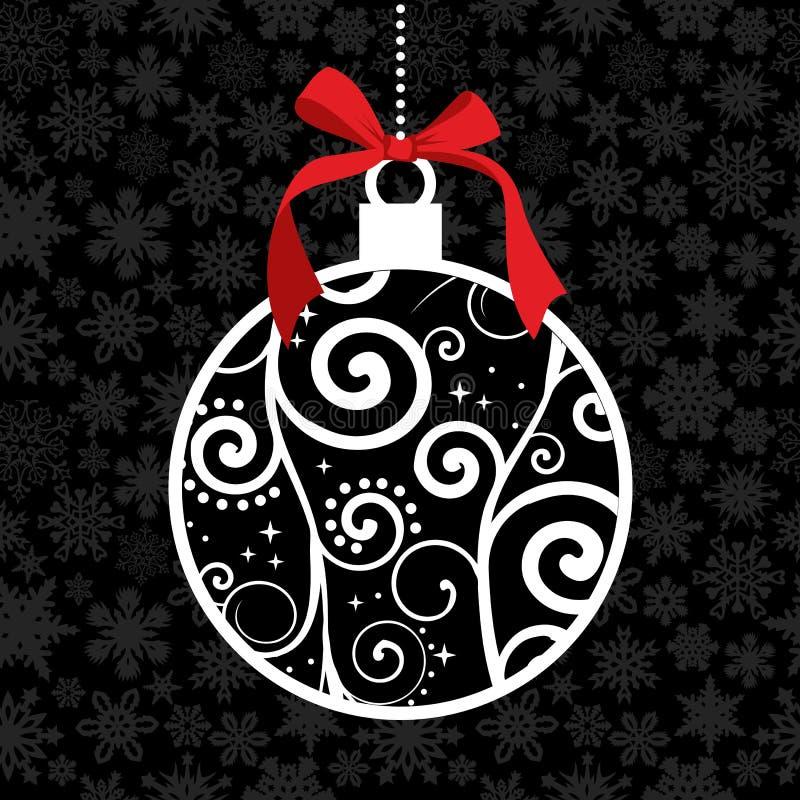 Chuchería elegante de la caída de la Navidad ilustración del vector