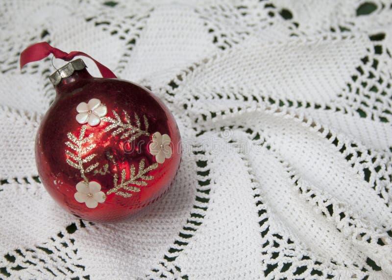 Chuchería roja de la Navidad fotografía de archivo