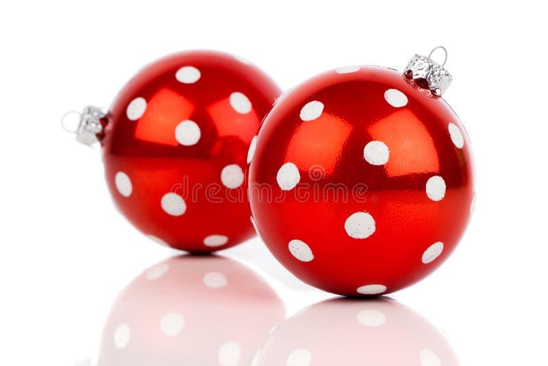 Chuchería roja de la Navidad del lunar fotos de archivo