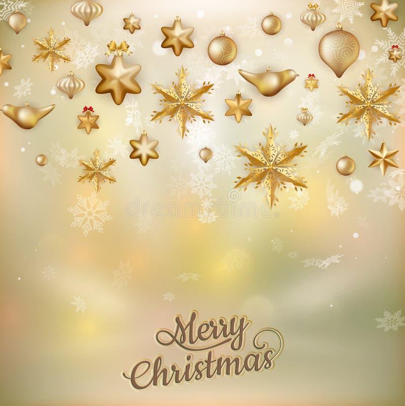chucherías de la Navidad del oro EPS 10 stock de ilustración
