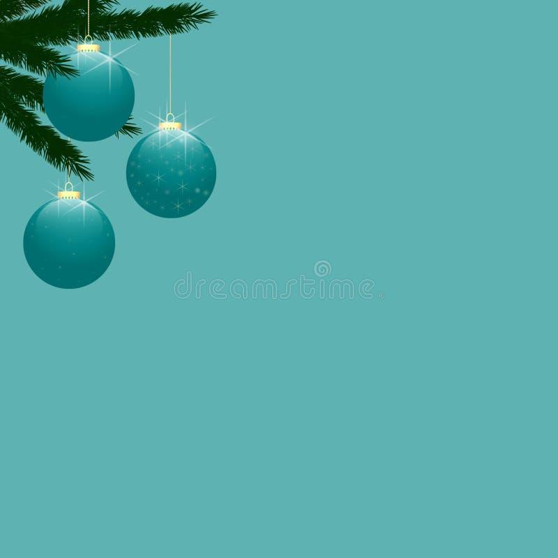 Chucher as del rbol de navidad en la turquesa stock de for Arbol navidad turquesa