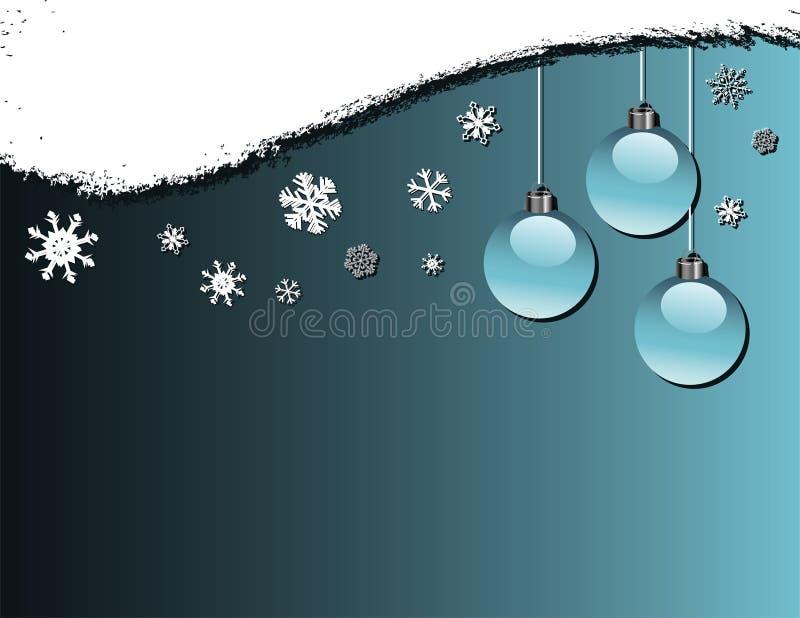 Chucherías y copos de nieve ilustración del vector