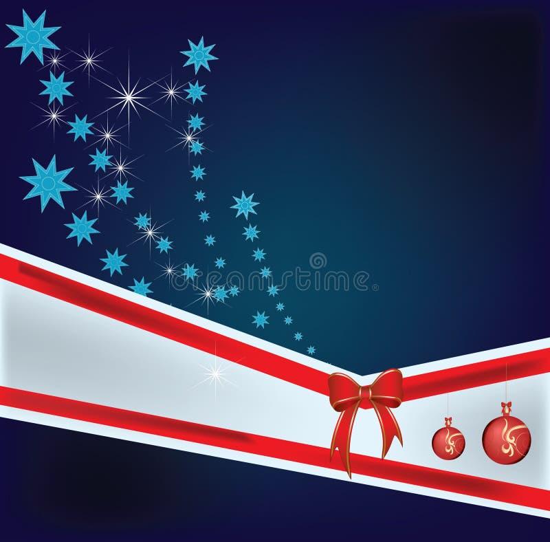 Chucherías y estrella de la Navidad stock de ilustración