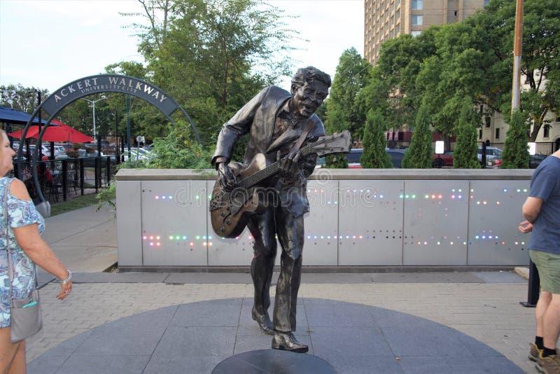 Chuck Berry statua, St Louis Missouri fotografia stock