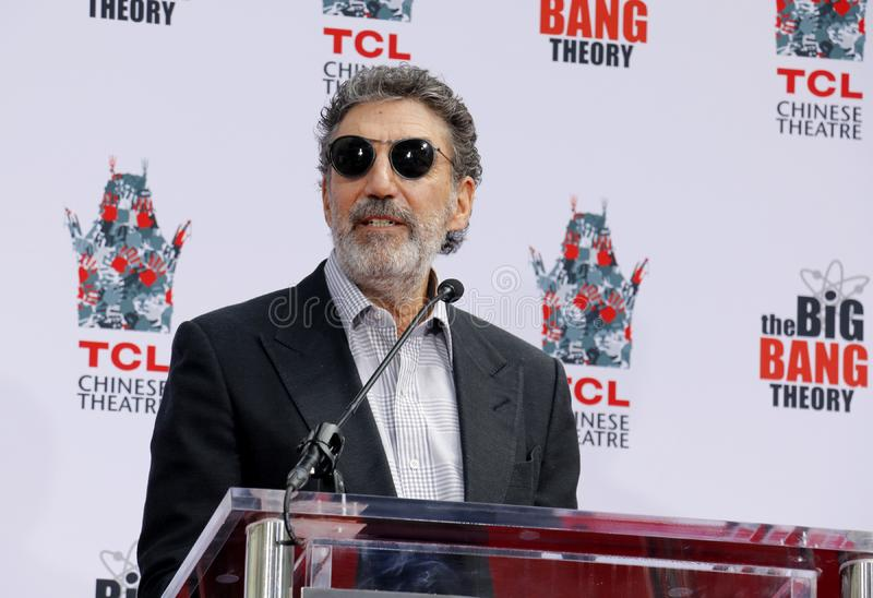 Chuck Lorre. At the handprints ceremony for `The Big Bang Theory` held at the TCL Chinese Theatre IMAX in Hollywood, USA on May 1, 2019 royalty free stock photography