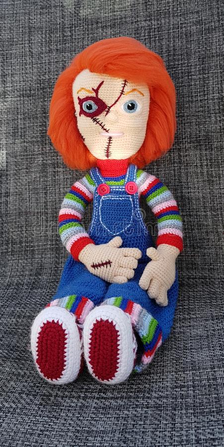 Chucky. My design my creation my passion, crochet stock images