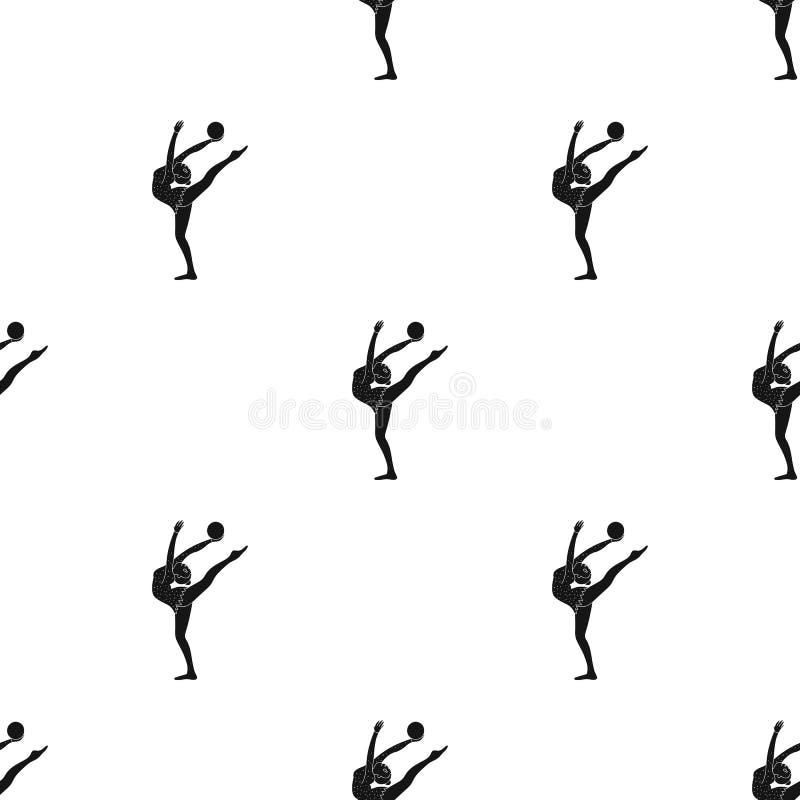 Chuderlawa dziewczyna z piłką w ręka tana sportach tanczy Dziewczyna angażuje w gimnastykach Olimpijscy sporty przerzedżą ikonę w ilustracji