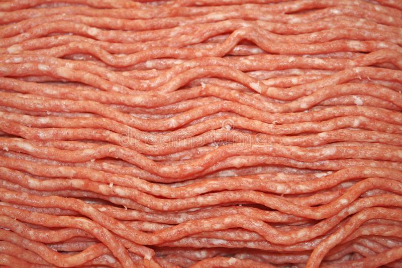 Chudy zmielona wołowina świeża od masarki zdjęcie royalty free