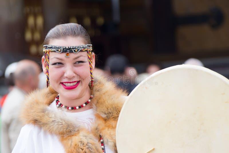 Chukchi妇女 免版税库存照片