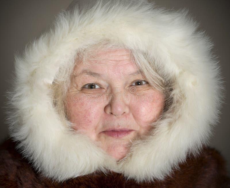 Chukchi Frau lizenzfreie stockfotografie