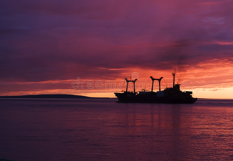 Chukotka. July. Midnight. royalty free stock images