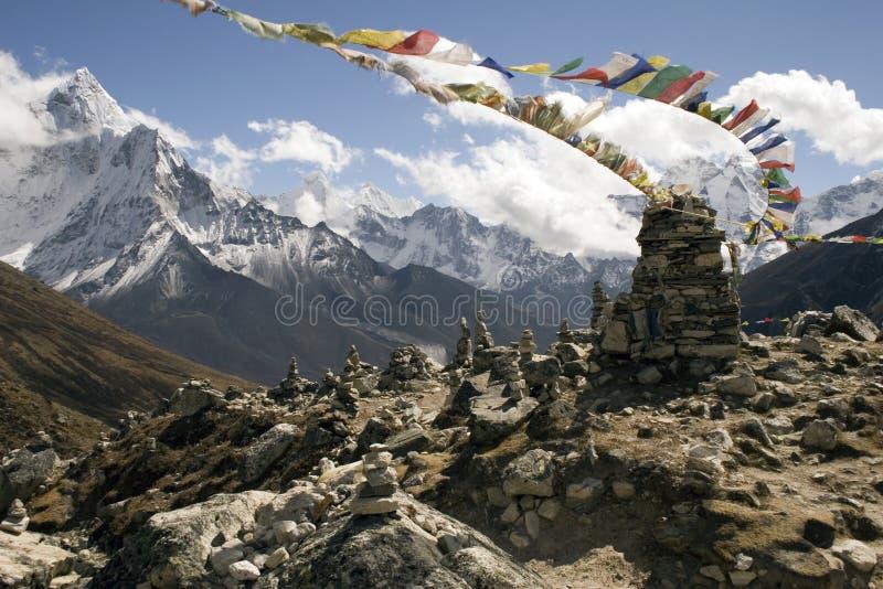 chukpilharaminnesmärkear nepal royaltyfria bilder