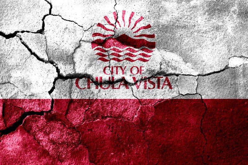 Chula Vista, Kalifornien verrostete gebrochene Flagge, rostiger Hintergrund Staaten von Amerika lizenzfreie abbildung