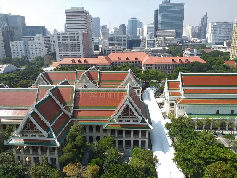 Library of Chulalongkorn University, the oldest university of Thailand. Chulalongkorn University´s Library at Bangkok. Library of Chulalongkorn University royalty free stock photography