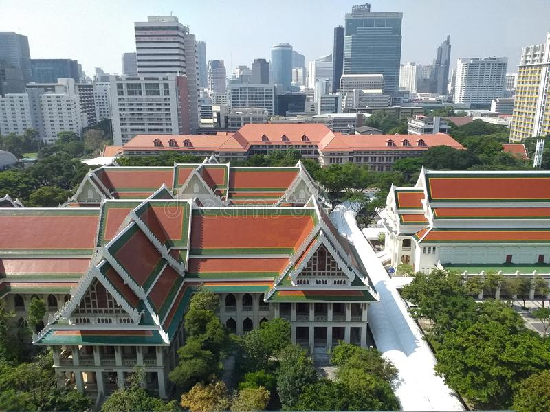 Library of Chulalongkorn University, the oldest university of Thailand. Chulalongkorn University´s Library at Bangkok. Library of Chulalongkorn University royalty free stock photo
