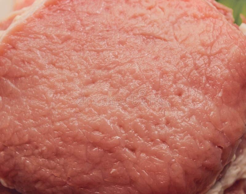 Chuleta de cerdo, cerdo crudo para las cenas de la carne fotografía de archivo