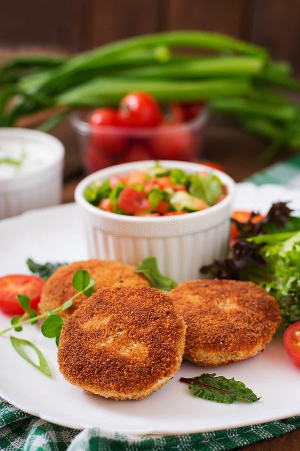 Chuleta del pollo con las verduras foto de archivo