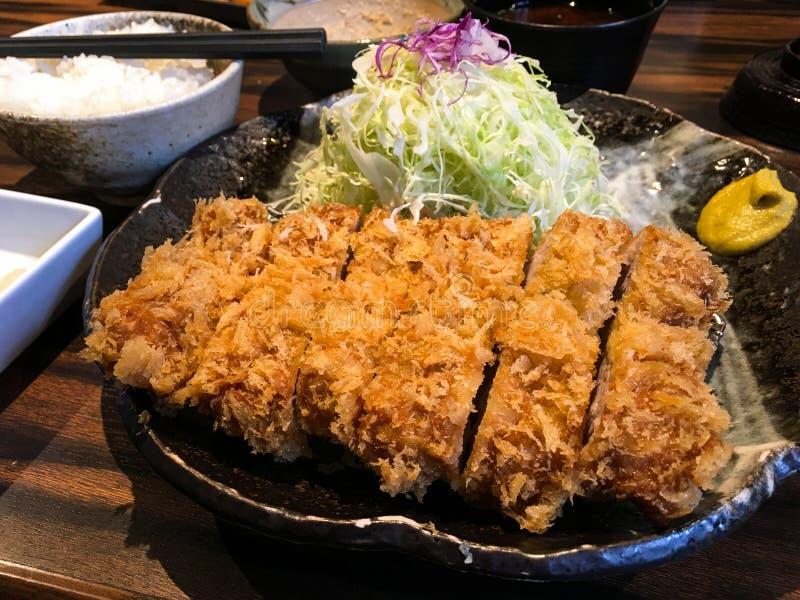 Chuleta frita japonés del cerdo fotografía de archivo libre de regalías