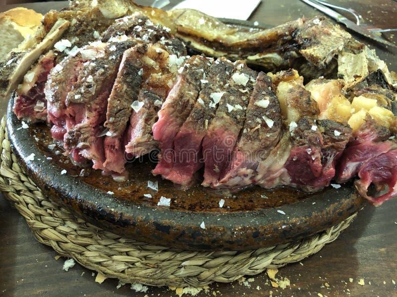 Chuleton, Basc国家的典型的牛排 库存图片