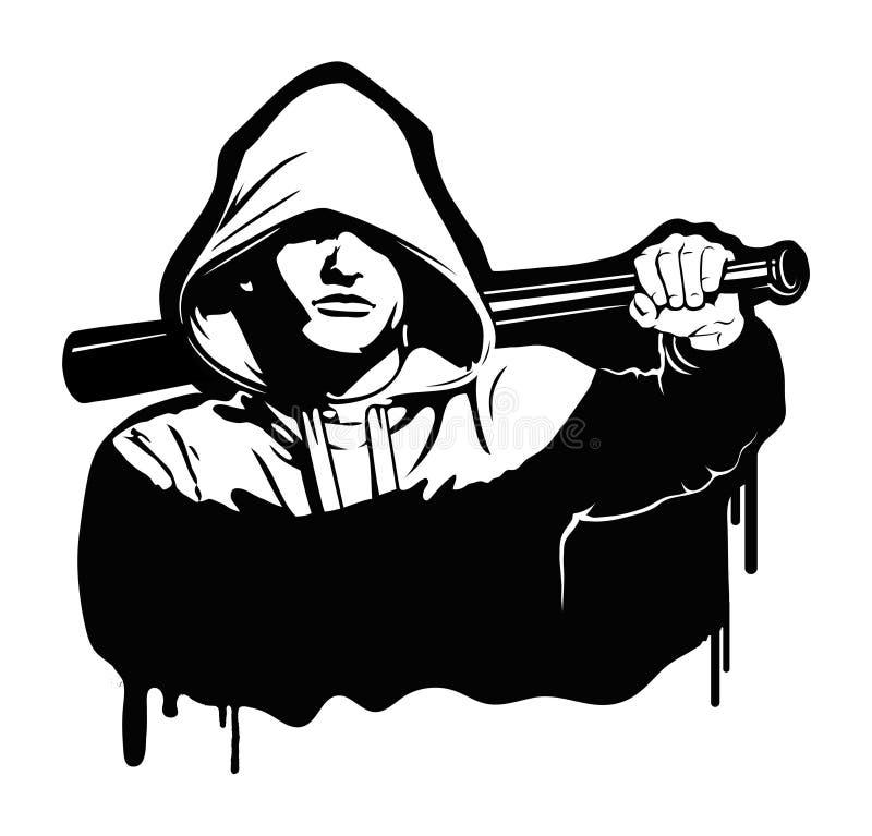 Chuligan - Wektorowa ilustracja na bielu ilustracja wektor