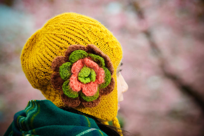 Chullo winter hat. Chullo is popular winter hat, insulate head and ear to further warm royalty free stock photos