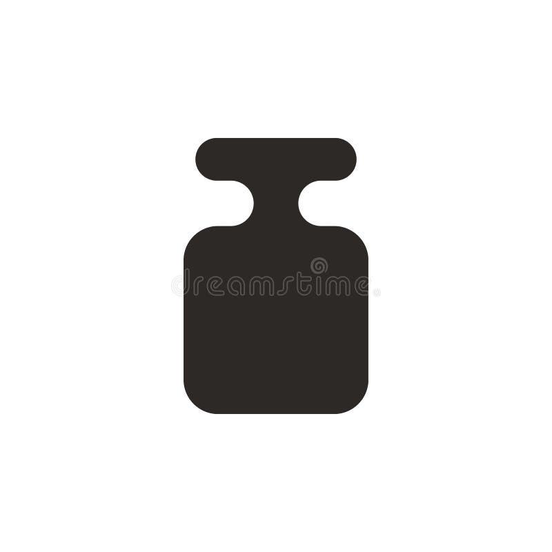 Chumbada de prumo, referência, ícone do vetor do peso Ilustra??o simples do elemento do conceito de UI Chumbada de prumo, referên ilustração do vetor