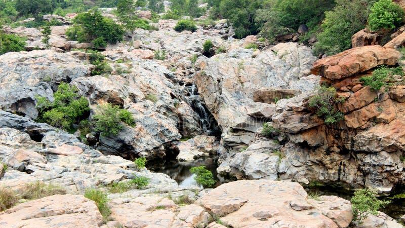 Chunchi fällt nahe Bangalore stockfotos