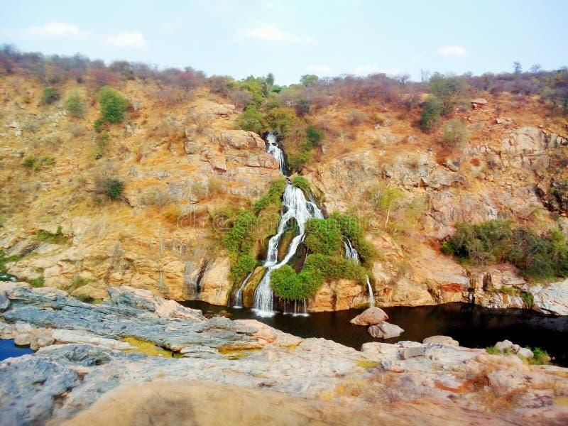 Chunchi nedgångar i karnataka royaltyfri bild