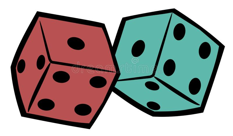Chunky Dice - Cool Vector Illustration. Chunky Dice- Cool Vector Illustration vector illustration