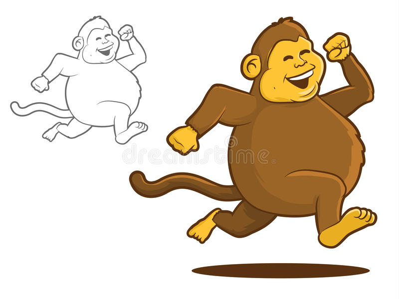 Chunky Monkey illustration libre de droits