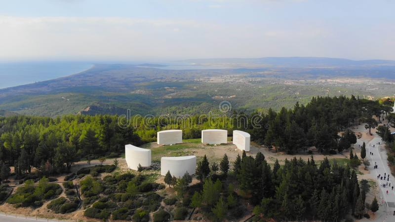 Inscriptions. Chunuk Bair Inscriptions in Gallipoli - Canakkale royalty free stock image