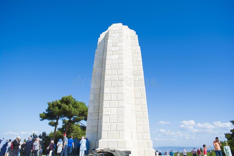 Chunuk Bair Zeland Nowy pomnik w Conk Bayiri, Gallipoli fotografia stock