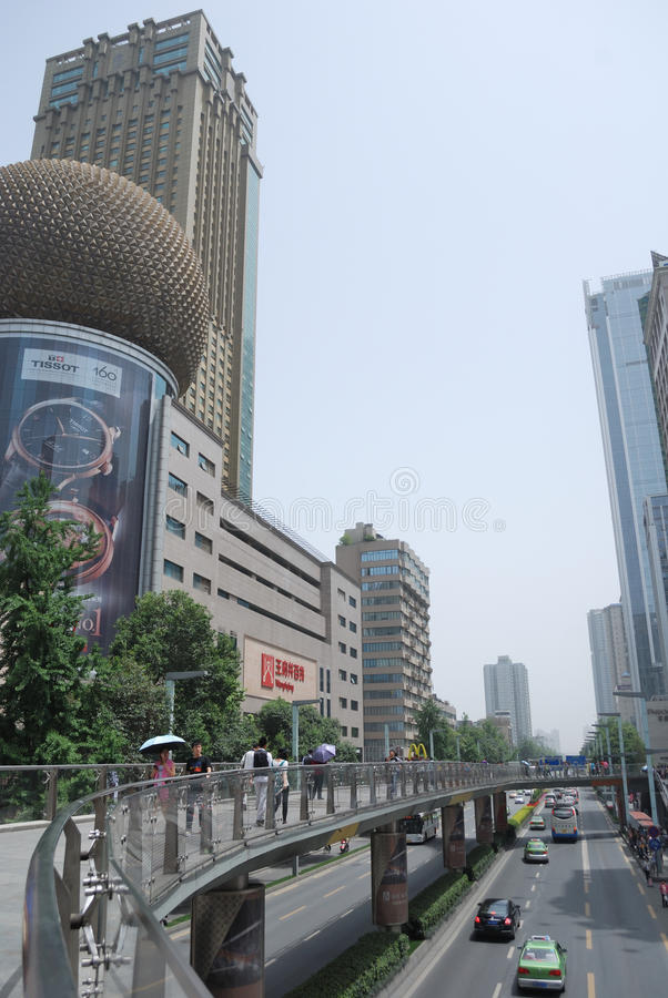 Chunxi Road, Chengdu, China. China Chunxi Road, Chunxi Road is located in the street Chengdu JinjiangChunxi Road, covering North New Street to the east, the royalty free stock images