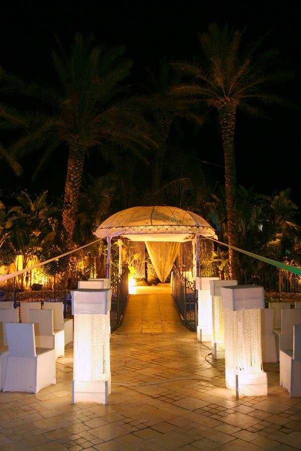 Chuppa on the Jewish wedding. stock image