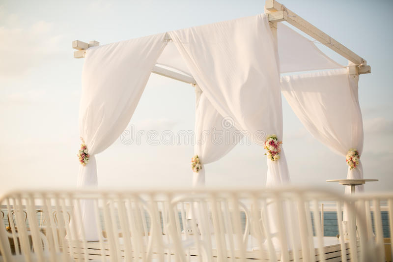 Chuppah do casamento judaico foto de stock