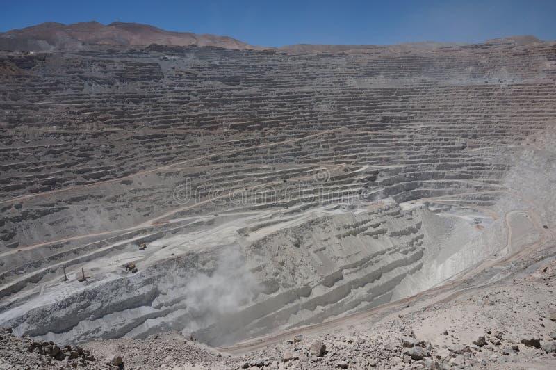 Chuquicamata Atacama, Chile arkivbild